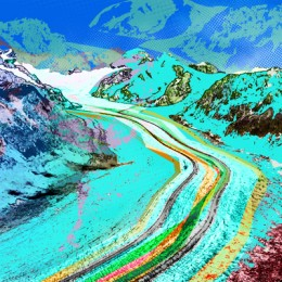 Gletscher - Blue
